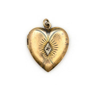 Evil Eye Heart Locket
