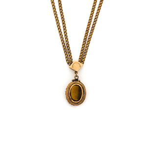 Onyx and Tiger's Eye Oval Locket