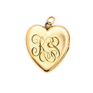 Engraved Victorian Heart Locket