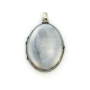 Niello Pinstripe Oval Locket