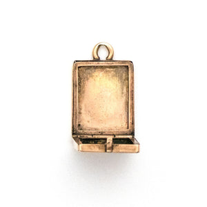 14K rose gold and platinum Rectangular art deco Locket