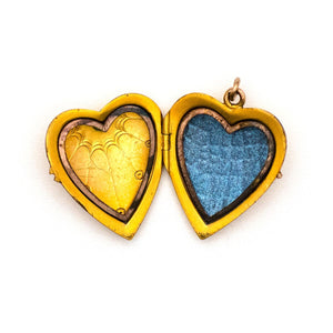 Sunburst Heart Locket