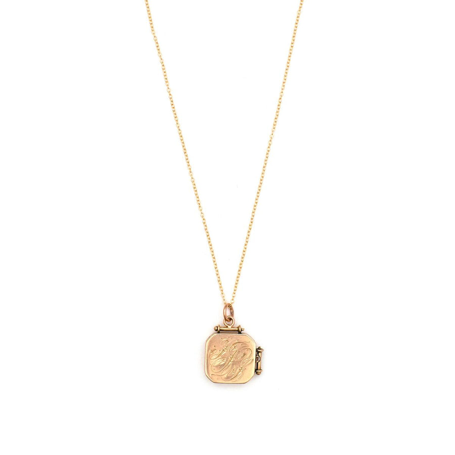 12K Rose Gold Diamond Fleur-de-lis Locket