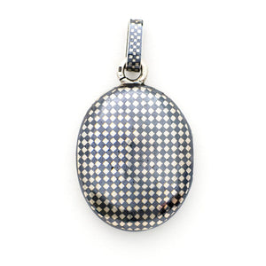 Checkered Oval Niello Locket