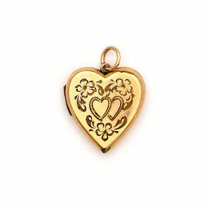 Twin Hearts Vintage Locket