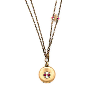 Red and White Luck Locket