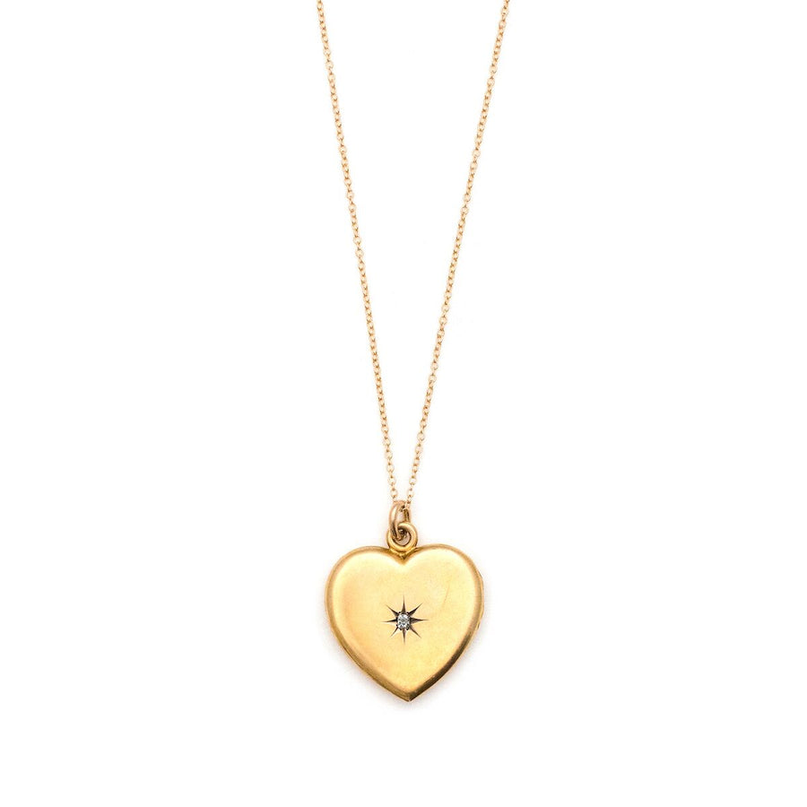 14K Gold & Diamond Heart Locket