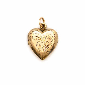 Pansies Vintage Heart Locket