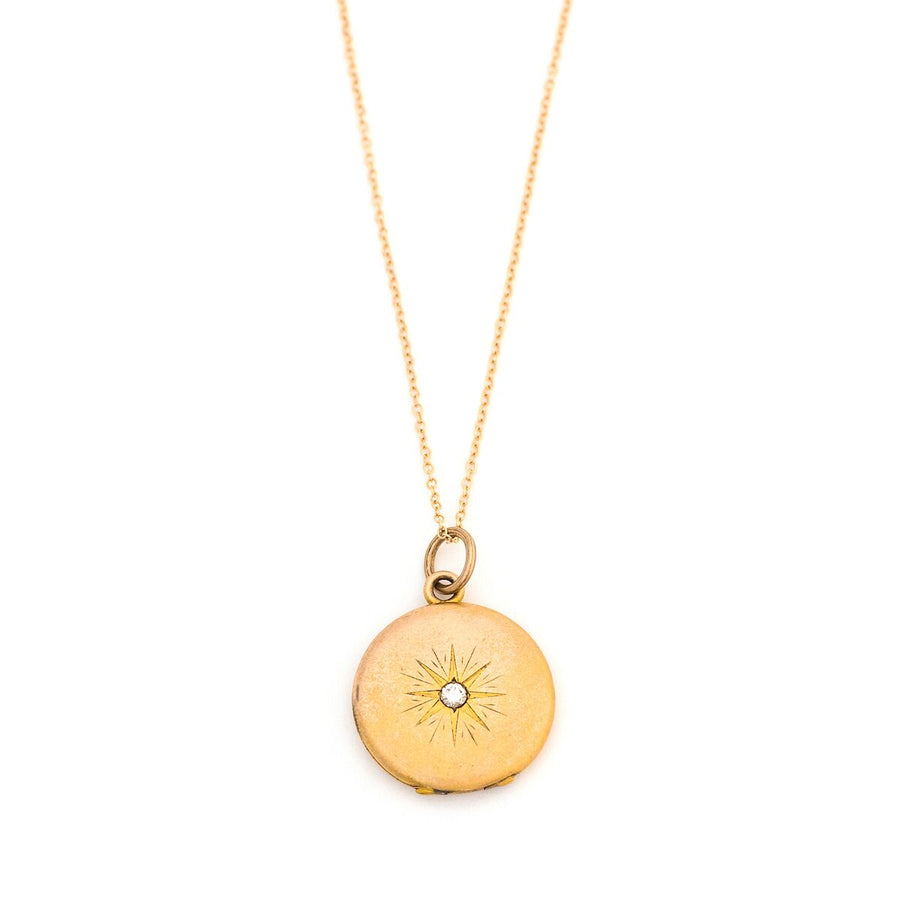 10K Gold Compass Rose Locket