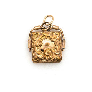 Square Filigree Locket