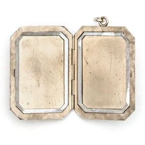 Deco Pinstripe Rectangle Locket