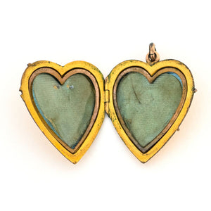 Something Blue Deco Heart Locket