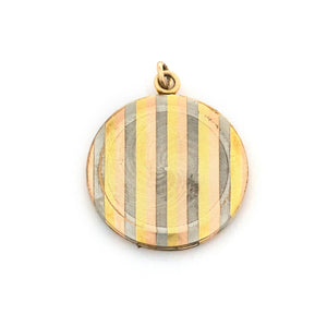 Tri-Metal Pinstripe Locket