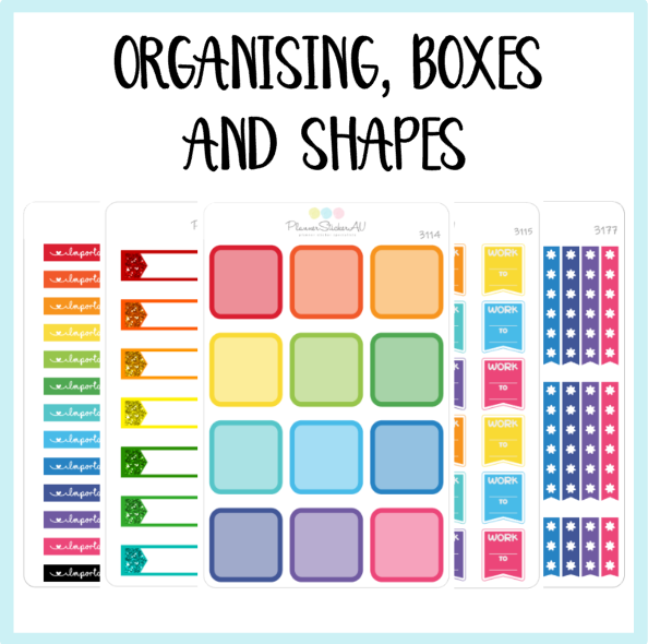 Organising, Boxes and Shapes