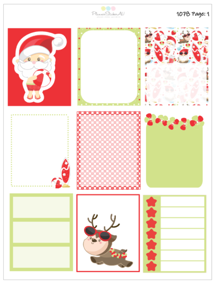 Christmas In Summer | EC Weekly Spread | 1078