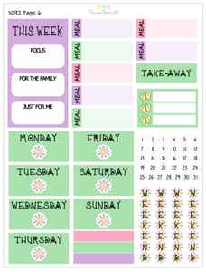 Spring Blooms | EC Weekly Spread | 1092