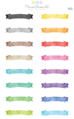 Watercolour Banners | 350