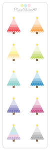 Mini Sheet | Christmas Trees | 9260