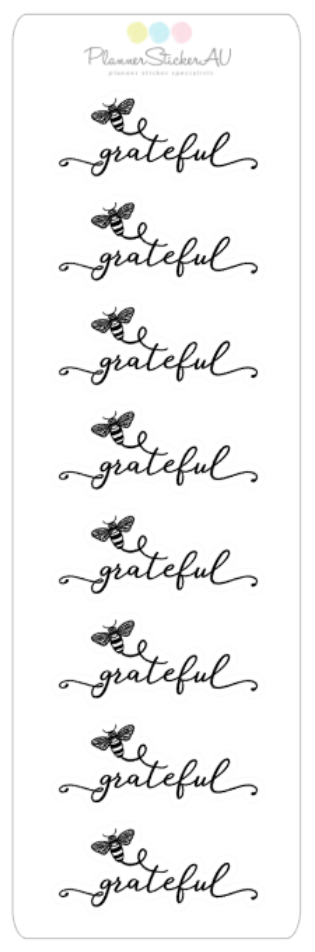 Mini Sheet | Be Grateful | 9354