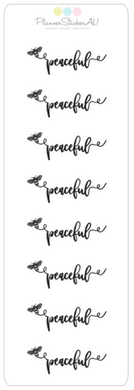 Mini Sheet | Be Peaceful | 9357