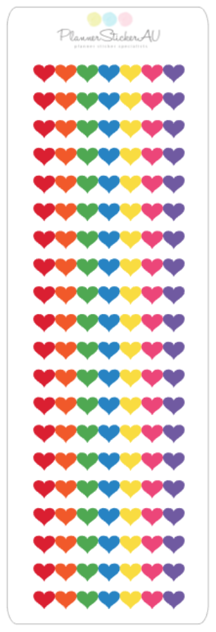 Mini Sheet | Heart Row Dividers | 9372