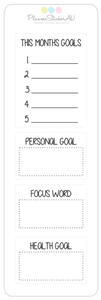 Mini Sheet | Monthly Goals | 9449