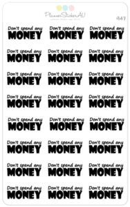Don't Spend Any Money | 947