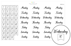 Foiled | Date Flag & Days of Week