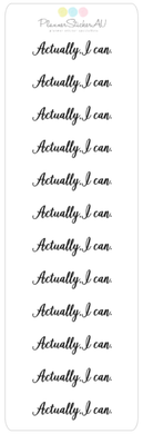 Mini Sheet | Actually I Can | 9002