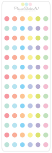 Mini Sheet | Tiny Dots - Filled | 9234