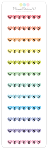 Mini Sheet | Weekend Hearts - Horizontal | 9092