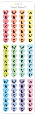 Mini Sheet | Weekend Hearts - Vertical | 9093