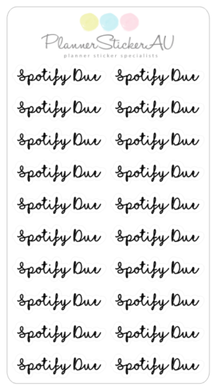 Super Mini Sheet | Text | Spotify Due