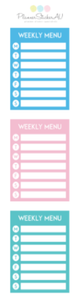 Mini Sheet | Menu Planner | 9157