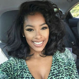 Wigsfox 24  Wavy Long Wigs For African American Women The Same As The Hairstyle In The Picture