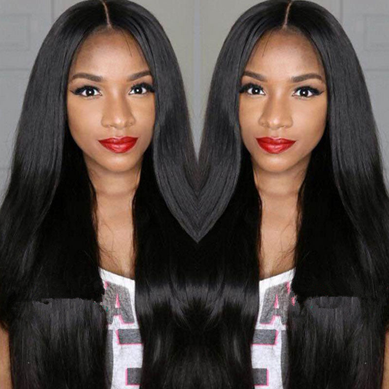 Brazilian Unprocessed Lace Front Wigs 150% Density Straight Virgin Hair Lace Wigs