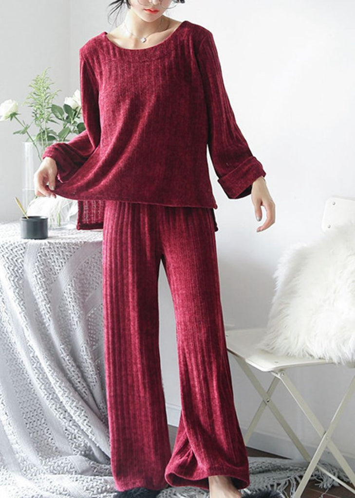 New Set 2 Pieces Long Sleeve Round Neck Pajama/Free Shipping