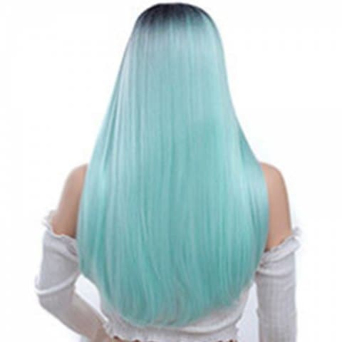 Central Parting Hair Style Gradient Ramp Long Wig
