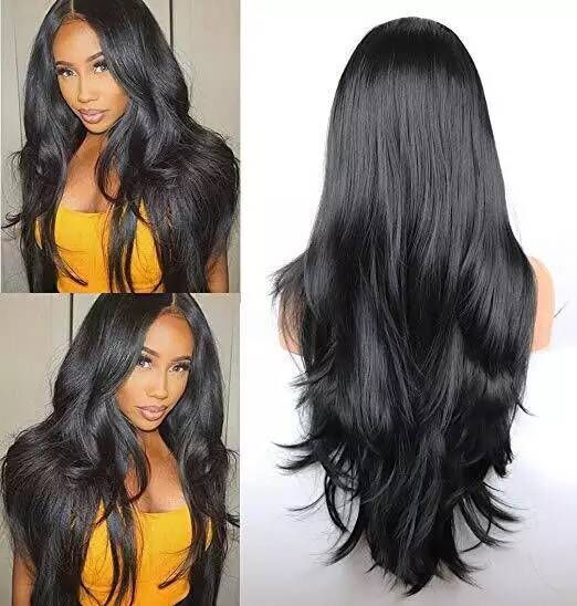 Lace Front Wig With Ponytail style Indian Hair Straight Wig