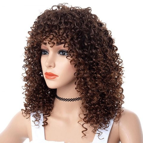 African Small Curl Bang Wig