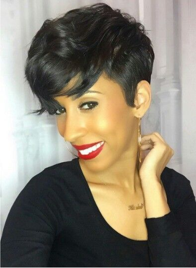 Wigsfox 12  Straight Bob Wigs For African American Women The Same As The Hairstyle In The Picture