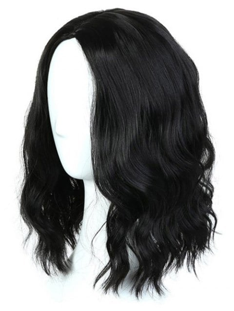 Foxwigs Lace Front Wigs Center Part Medium Natural Wave Wig/Free Shipping