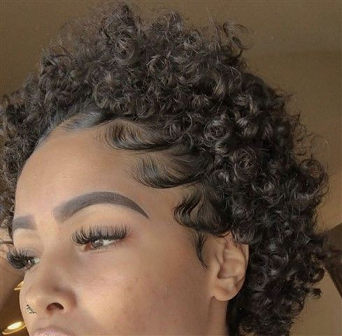 Wigsfox Short Afro Curl Kinky Human Hair Wigs For African American Women