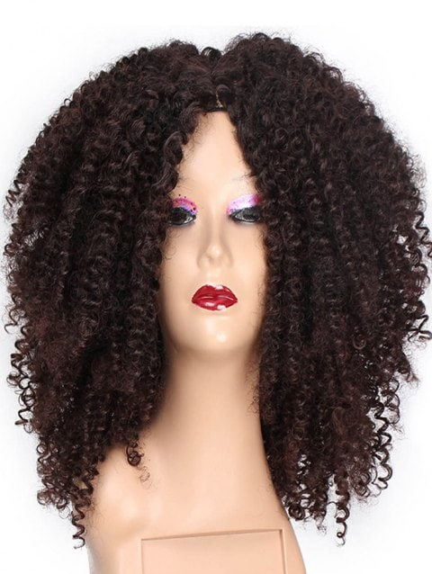Foxwigs Lace Front Wigs Center Part Long Kinky Adjustable Hair Wig/Free Shipping