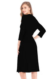 Robes Cotton 3/4 Sleeve Waist Tie Ladies Loungewear for Women/Free Shipping