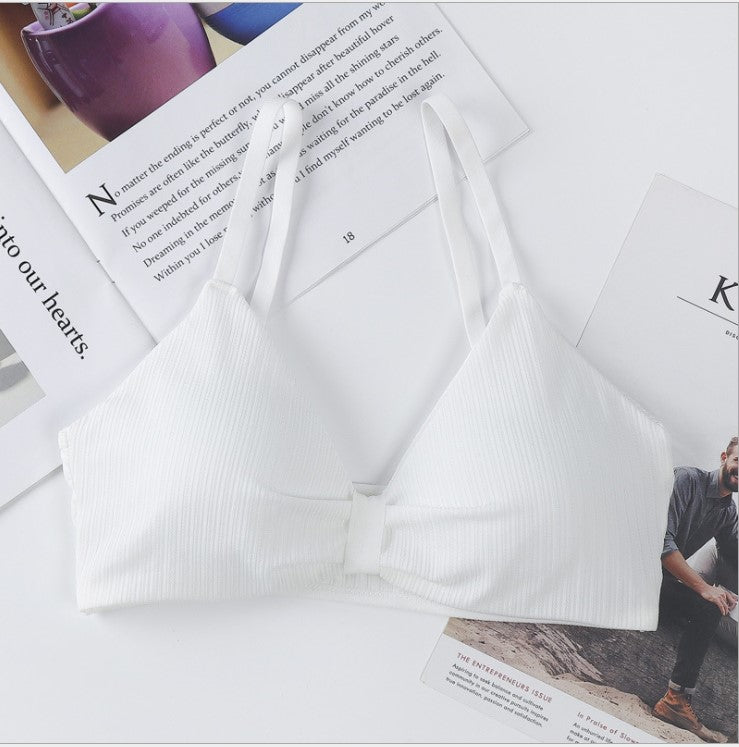 Fashion Beauty Back, Sexy Trend, Bowknot Design without Underwire Underwear, Belong to The Girl's Beautiful Summer./Free Shipping