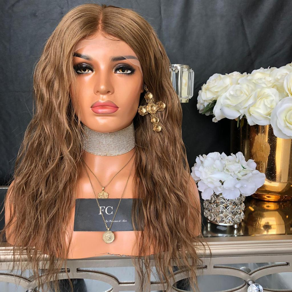 Dark Brown Synthetic Wigs for women Fashion Wig Lace Front Wig