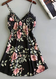 Floral Print Camisole Summer Dress Lace Sleepwear Nightdress/Free Shipping