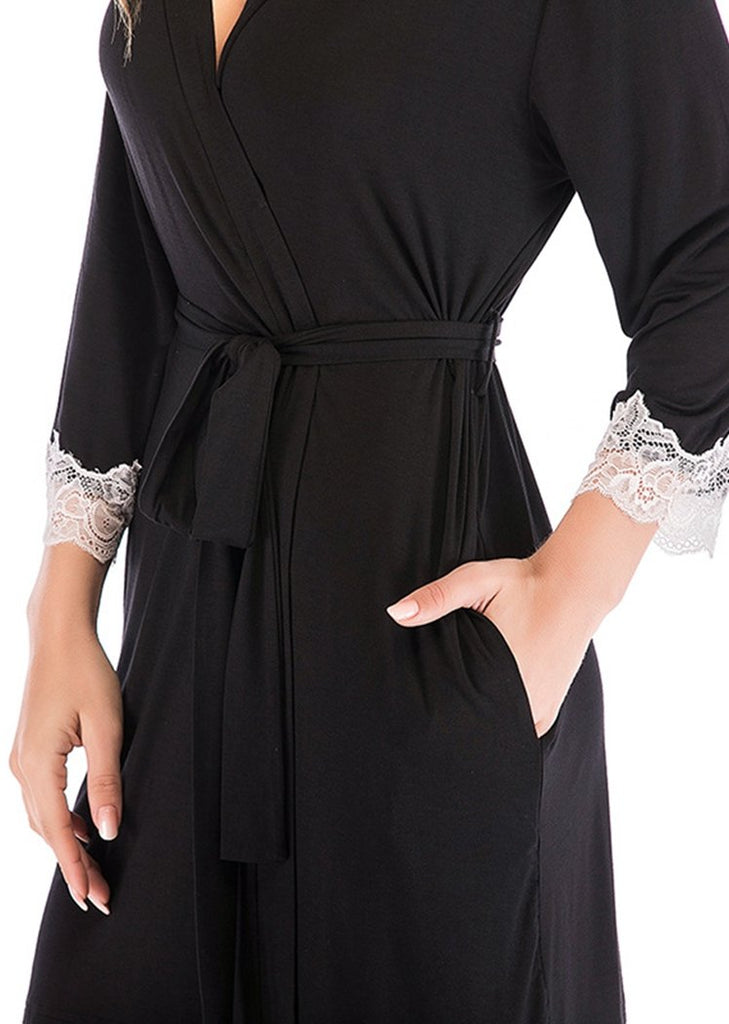 Women's Lace Trim Nightgown Pregnancy Sleepshirts for Breastfeeding/Free Shipping