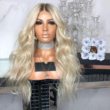 PLATINUM 19 INCHES SMALL CAP Lace Wigs For Wedding/Free Shipping